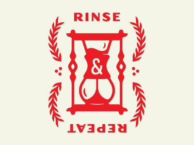 Rinse / Repeat illustration hourglass coffee