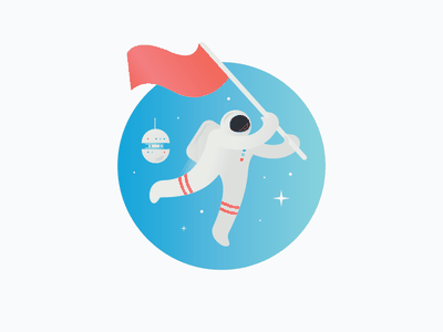 Space Guy 1 helmet flag stars mission droid technology astronaut space