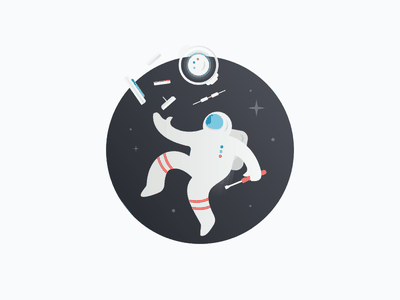 Space Guy 2 illustration technology stars astronaut space