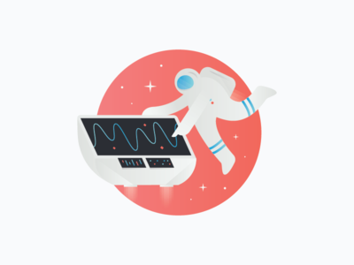 Space Guy 3 illustration stars graph technology astronaut space