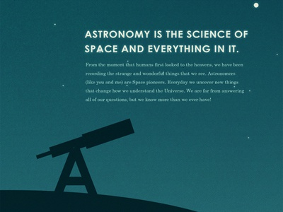 A is for Astronomy