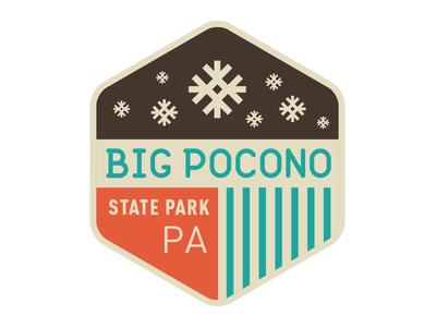 Big Pocono badge patch state park