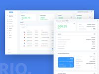 RIO Transactions screen