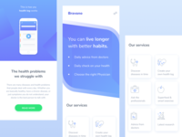 Landing page about health