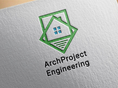 Logo for architect company concept architect branding logo