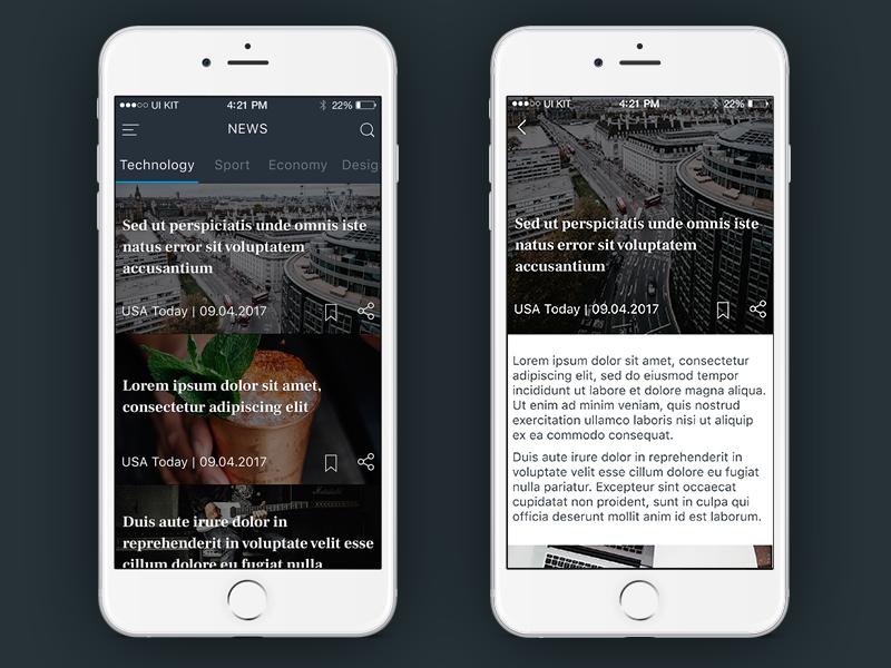 News APP news ios concept app mobile ux ui