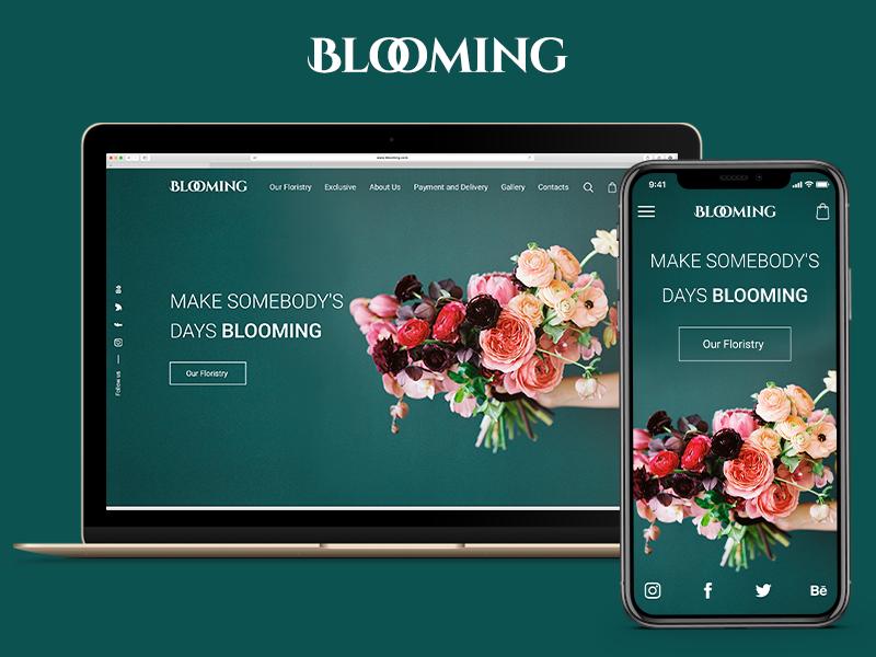 Blooming Web Site floristic shop ui web