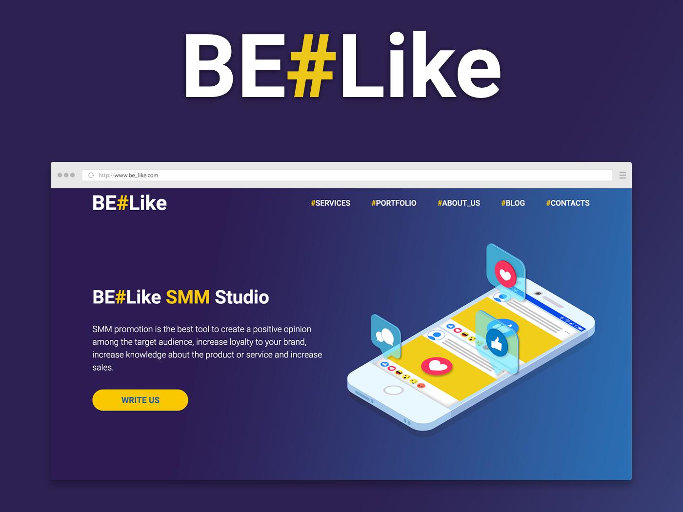 BE#Like SMM Studio illustration design web ux ui