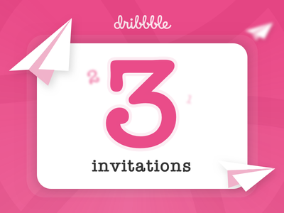 3x Dribbble Invitations dribbble invitation invite