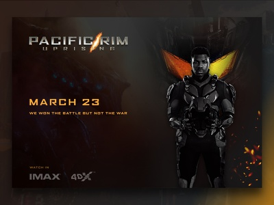 Pacific Rim Uprising - TV Poster dailyui imax cinema sketch flat web design minimal pacificrim poster tv web ux ui simple design dark clean
