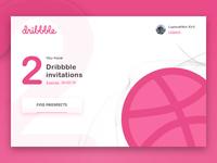 2x Dribbble Invitations