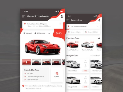 Rent Car - concept design lease dailyui sketch rentcar simple concept mobile web ux ui car minimal ios flat design clean application app