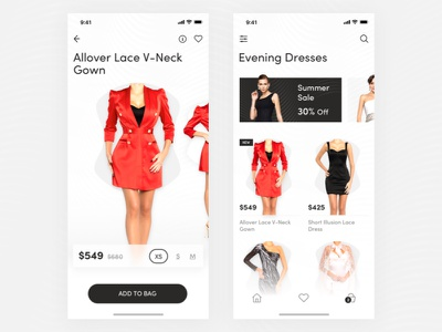 Mallini - App concept white web ux dailyui sketch web design minimal dresses shop ui mobile ios flat fashion ecommerce design clean black application app