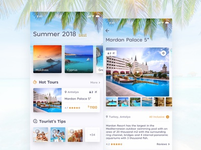 Trip App - Concept hottour hotels dailyui sketch concept design mobile simple hotel minimal vacation trip flat ux ui ios clean application app