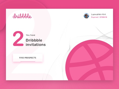 2x Dribbble Invitations draft white follow prospects invitation invite dribbble dailyui web design sketch simple minimal web flat ux ui design clean