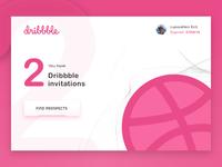 2x Dribbble Invitations draft white follow prospects invitation invite dribbble dailyui web design sketch simple minimal web flat ux ui design clean