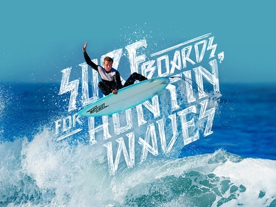 Mancave - Lettering surfing beach blue sea ocean surf lettering illustration