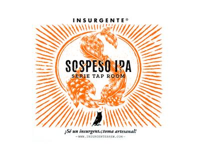 Insurgente - Beer label - Sospeso IPA