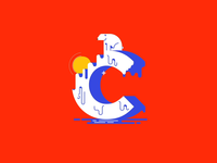 C is for Climate Change warming global change climate bear sun mograph animation type 36 days of type 36daysoftype vector design illustration
