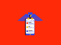 T is for Twitter Tyrant type smartphone cellphone trump twitter loop animation motion graphic mograph vector illustration