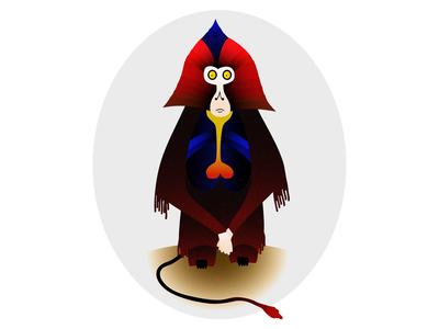 Gelada debutshot debut shot debut monkey animal art animal affinity designer vector illustration