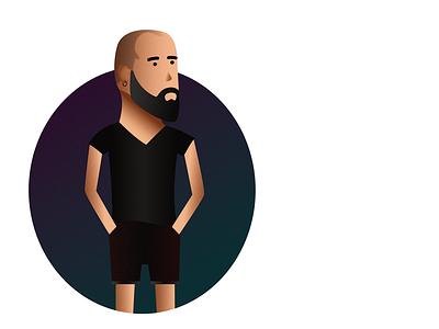 Michael full beard beard human man self-portrait portrait vector illustration gradients affinity designer