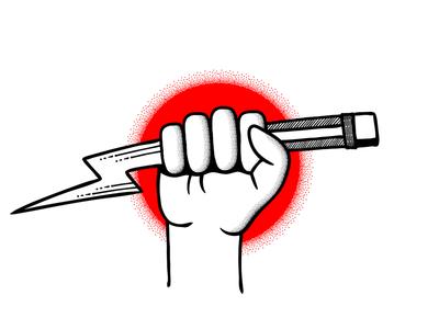 Creative Spark textures brushes creativity logo design logo illustration illustrator adobe