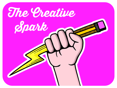 Creative Spark • Cutout Edition pink creative adobe brushes pattern vector logo adobe illustrator illustration