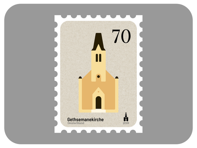 Gethsemane Church | Churches of Leipzig design icon stamp graphic design madeinaffinity leipzig church vector architecture illustration affinity designer affinity