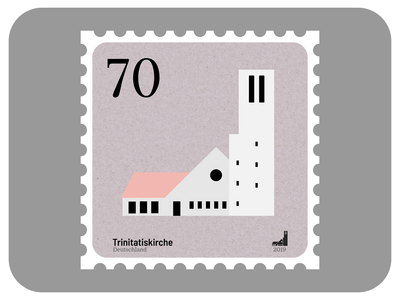 Trinitatis Church | Churches of Leipzig stamp design affinity madeinaffinity icon church graphic design architecture vector affinity designer illustration