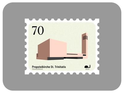 St. Trinitatis | Churches of Leipzig affinity icon stamp church architecture madeinaffinity graphic design vector affinity designer illustration