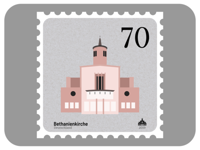 Bethanien Church | Churches of Leipzig design affinity stamp church architecture madeinaffinity graphic design vector affinity designer illustration