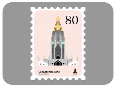 Russian Memorial Church | Churches of Leipzig design affinity stamp church architecture madeinaffinity vector graphic design affinity designer illustration