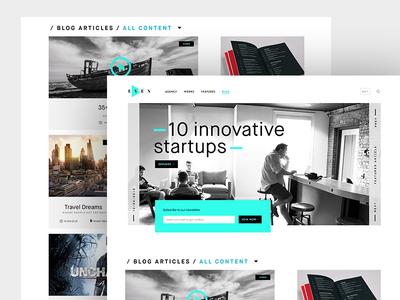 Even Blog wordpress clean minimal layout ux ui blog