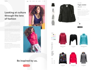 Infinity - Fashion E-Commerce fashion ecommerce minimal design ux ui