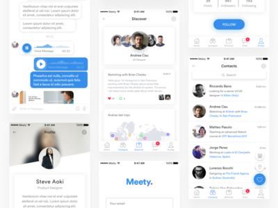Social Mobile App travel minimal white design ux ui mobile