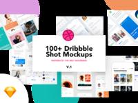 100+ Dribbble Shot Mockups