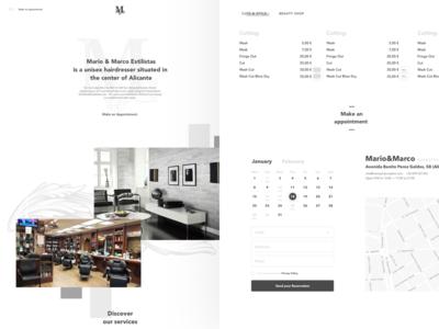 Homepage In Parallax web design minimal white parallax ux ui