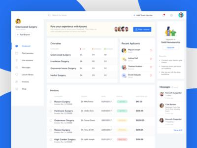 Dashboard Job Application App job application minimalistic white web app ux ui design web app dashboard