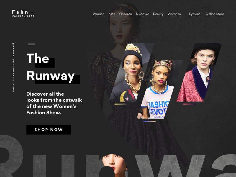 Homepage Slide Screen black fashion creative mints creative web design design white minimal ux ui