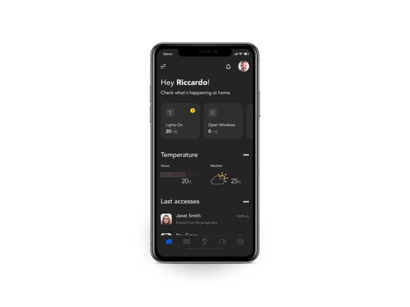 Smart Home App dark app dark ui design minimal iphone app ui design smart home ux ui