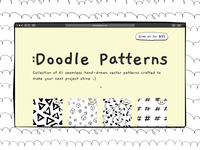 Doodle Patterns | Personal project grid collection freebie pattern patterns sketchy doodle website producthunt webflow