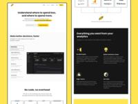 FTW | Website dashboad analytics landing minimal
