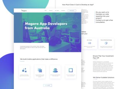 Magora main page (Australia) main site page design company landing mainpage webdesign web