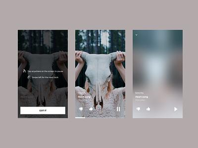 Muzlab | Player ios music playlist pastel uiux musicplayer player minimalist