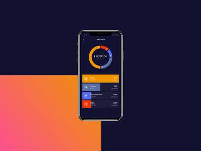 Portfolio allocation finance wallet crypto wallet blockchain motion debut eth brd btc cryptocurrency cryptowallet crypto