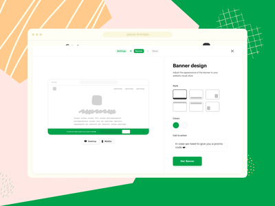 Banner builder | Concept customizable builder website generator banner widget saas web