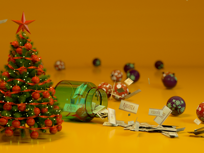 Preparing for Christmas texture c4d design photoshop cinema4d 3d