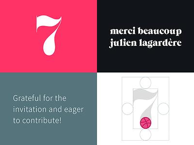 Hello Dribbble! hello first shot logo typography design branding invite invitation thanks debut dribbble