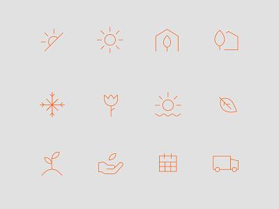 Gardenuity Icon Set digital web navigation pictogram illustration branding icon